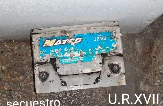 San Jeronimo: Robaron una batería en la zona de obras de la Autopista
