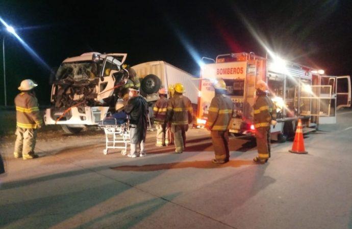 Accidente en autopista Rosario Córdoba, a la altura de Carcarañá