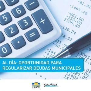 Roldán: Nueva oportunidad para regularizar deudas municipales