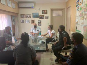 Pedretti se reunió con autoridades del Ministerio de Seguridad para solicitar más patrullajes