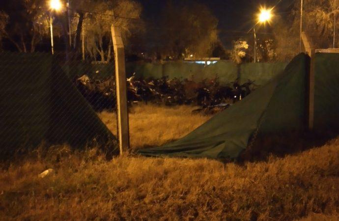 Roldán: Cortaron el tejido del deposito de la GUR y sustrajeron motocicletas