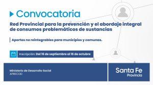 Convocan a municipios y comunas para presentar proyectos sobre consumos problemáticos de sustancias